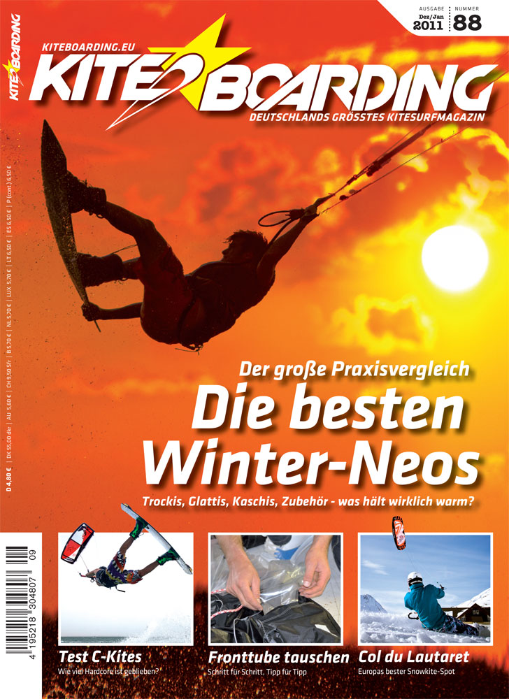 Kiteboarder Rich Sabo on the cover of Kiteboarding.eu Magazine