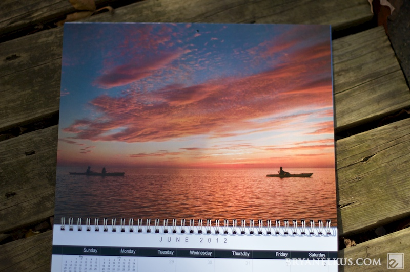 page from the OBX north carolina Calendar
