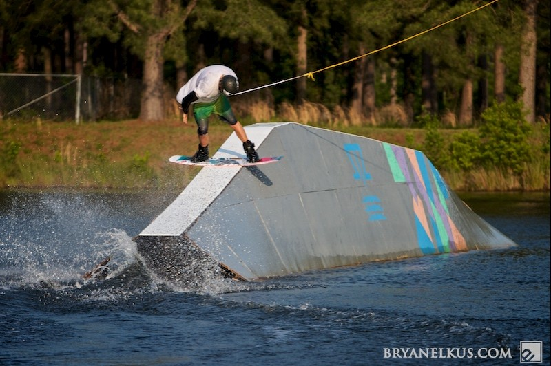 Brandon Scheid wakeboarding at the East Coast Cable Park