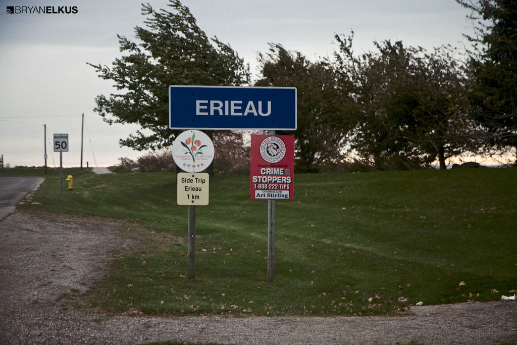 Erieau town sign