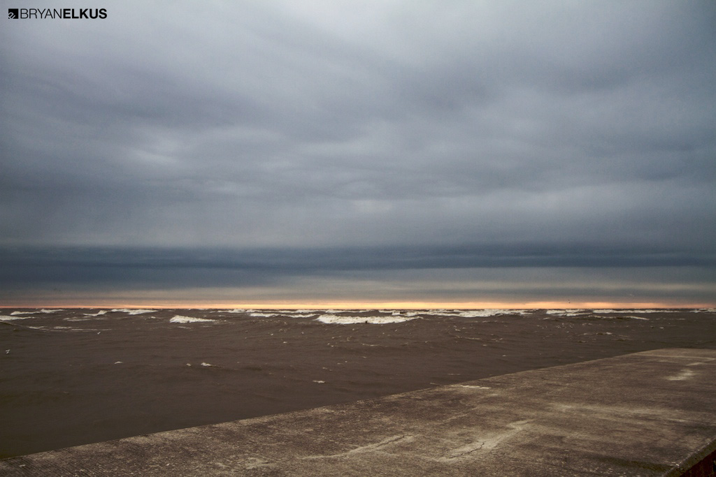 a beautiful sky on a stormy day on Lake Erie